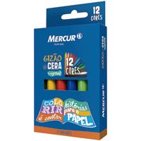 GIZAO CERA C/12 CORES MERCUR - Cod.: 100349