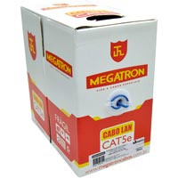 CABO UTP P/ COMPUTADOR 305M CATEG 5 AZL MEGATRON - Cod.: 102948