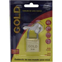 CADEADO 30MM GOLD CARTELA - Cod.: 105101