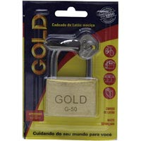 CADEADO 50MM GOLD CARTELA - Cod.: 105120