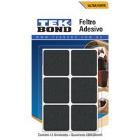 FELTRO ADESIVO QUADRADO 30X30MM PTO C/12 TEKBOND - Cod.: 107925