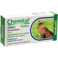 CHEMITAL GATOS C/4 COMPRIM CHEMITEC - Cod.: 115643