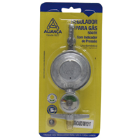 REGULADOR GAS MED C/ MANOMETRO ALIANCA - Cod.: 91546