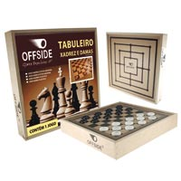 JOGO DAMA ESTOJO MADEIRA OFFSIDE - Cod.: 92374