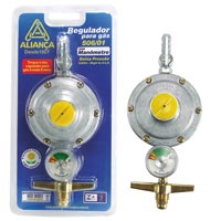 REGULADOR GAS GDE C/ MANOMETRO ALIANCA - Cod.: 92379