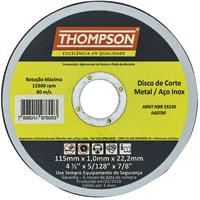 DISCO CORTE INOX 4.1/2X1,0 THOMPSON - Cod.: 97469