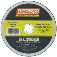 DISCO CORTE INOX 7X 1,6 THOMPSON - Cod.: 97514