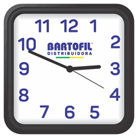 RELOGIO PAREDE AMBIENTE QUAD BARTOFIL - Cod.: 98307