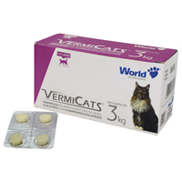 VERMIFUGO VERMICATS 600MG 3KG WORLD PET - Cod.: 98708