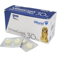 VERMIFUGO VERMICANIS 2,4G 30KG WORLD PET - Cod.: 98776